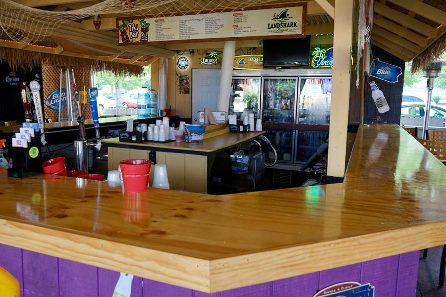 Tiki Bar at Sloppy Duck Saloon